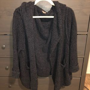 Oversized Free People Navy Sweater